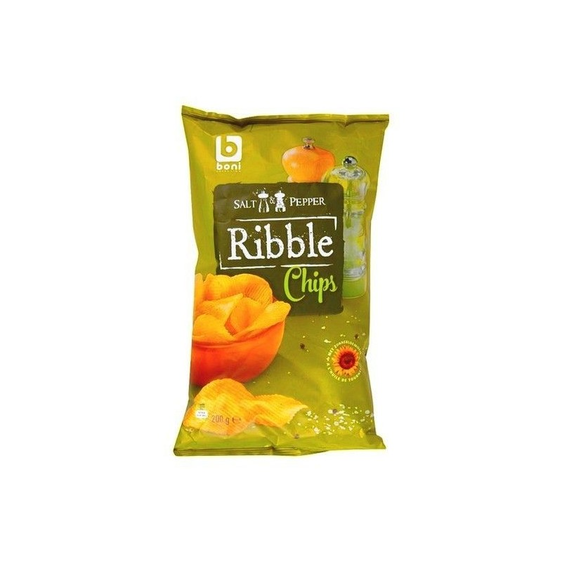 Boni Selection Ribble chips poivre sel 200 gr CHOCKIES