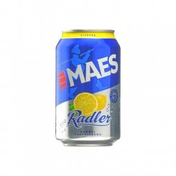 Maes Radler citron 2% can 33cl - CHOCKIES Belgique pils